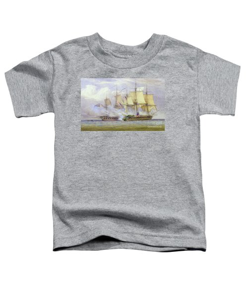 The Moment Of Victory Between Hms Shannon And The American Ship Chesapeake On 1st June 1813 Toddler T-Shirt