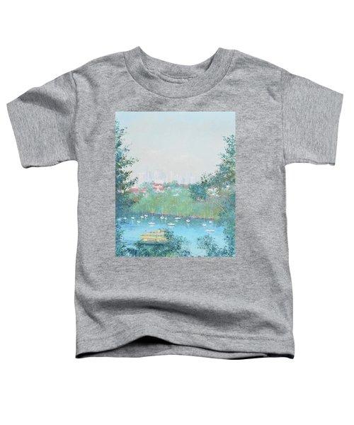The Mosman Bay Ferry And Sydney Skyline Toddler T-Shirt