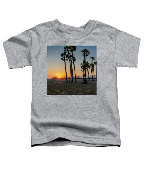 The Pier At Sunset - Square Toddler T-Shirt