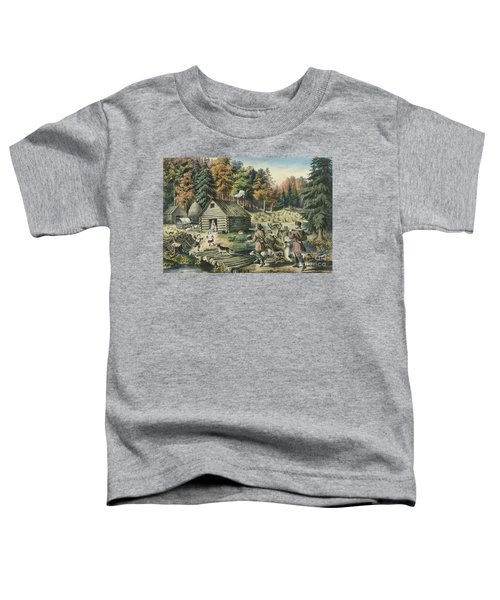The Pioneers Home On The Western Frontier, 1867  Toddler T-Shirt