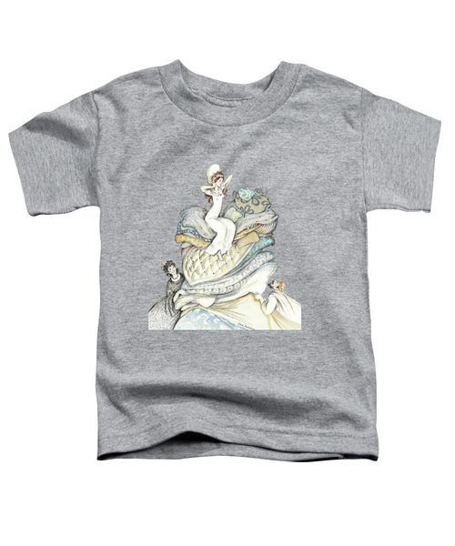 The Princess And The Pea, Illustration For Classic Fairy Tale Toddler T-Shirt
