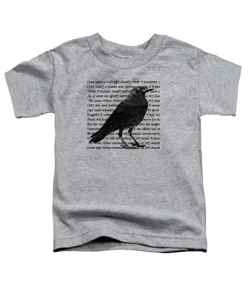 The Raven Poem Art Print Toddler T-Shirt by Sandra McGinley