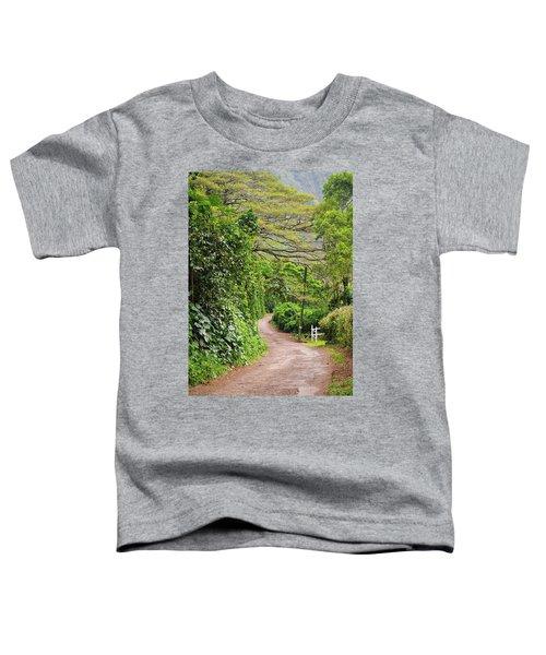 The Road Less Traveled-waipio Valley Hawaii Toddler T-Shirt