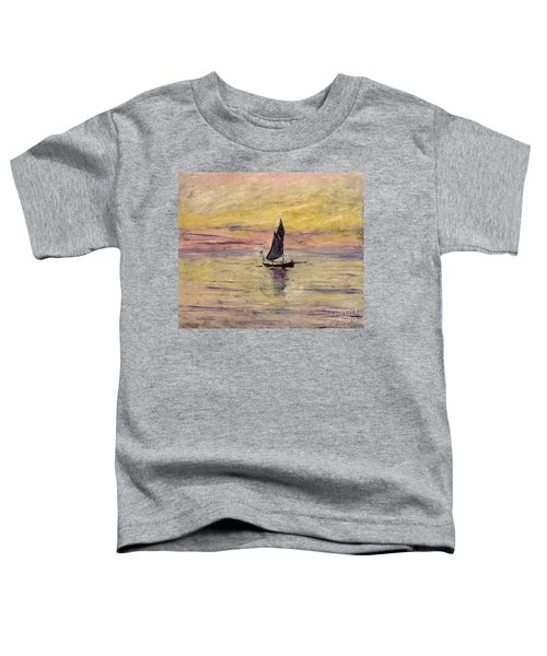 The Sailing Boat Evening Effect Toddler T-Shirt