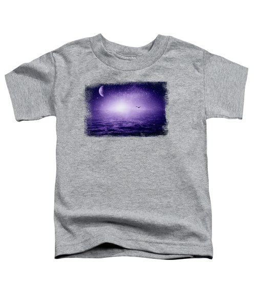 The Sea And The Universe - Ultra Violet Toddler T-Shirt