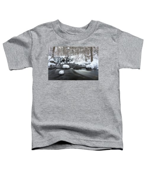 The Secret Waterfall In Winter 2 Toddler T-Shirt