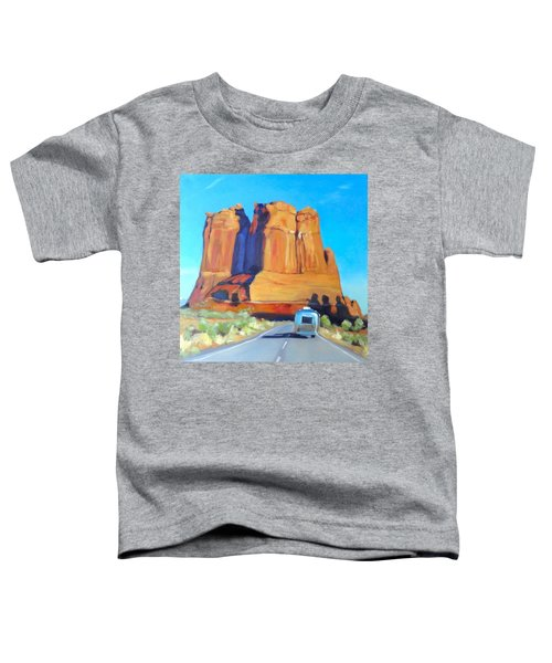 The Shadow Of The Three Gossips Arches Utah Toddler T-Shirt
