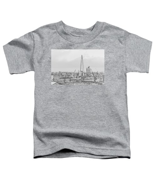 The Shard Outline Poster Bw Toddler T-Shirt