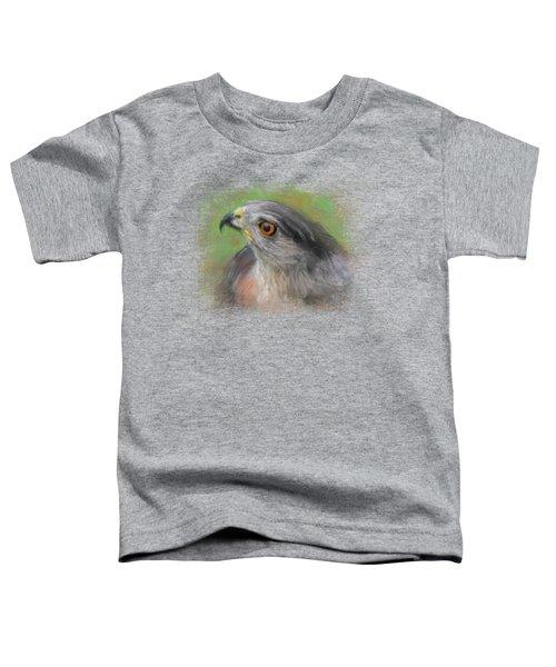 The Sharp Shinned Hawk Toddler T-Shirt by Jai Johnson