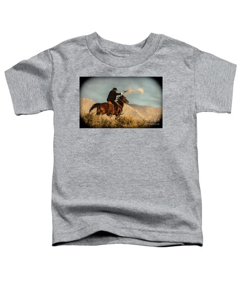 The Sharp Shooter Western Art By Kaylyn Franks Toddler T-Shirt