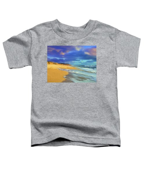 The Shoreline At Half Moon Bay Toddler T-Shirt