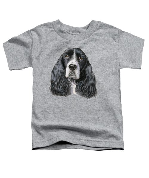 The Springer Spaniel Toddler T-Shirt by Sarah Batalka