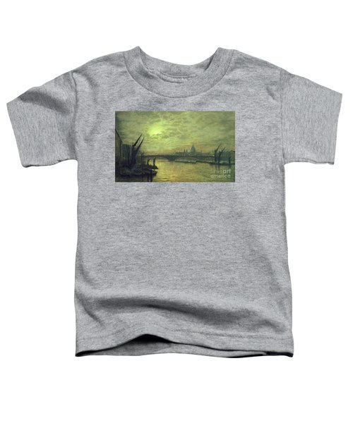 The Thames By Moonlight With Southwark Bridge Toddler T-Shirt