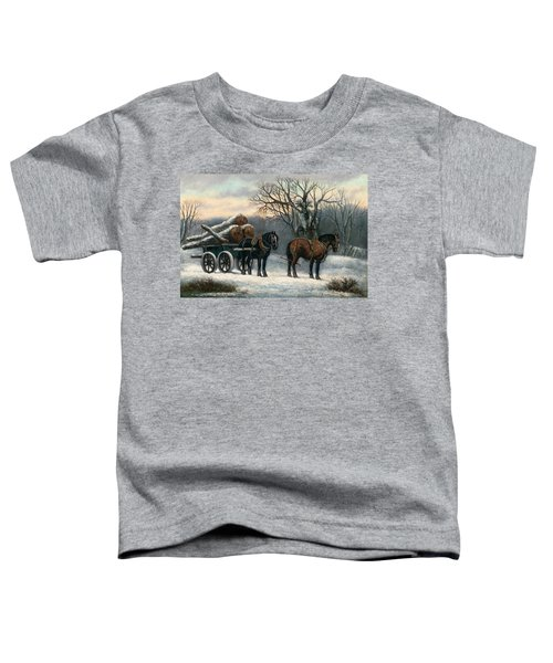 The Timber Wagon In Winter Toddler T-Shirt