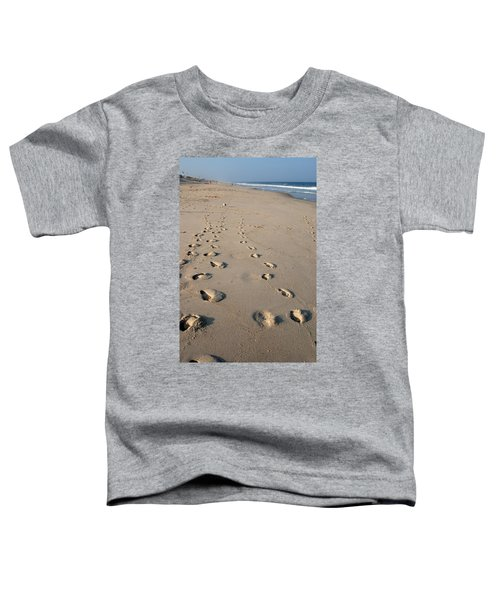 The Trails Of Footprints - Jersey Shore Toddler T-Shirt