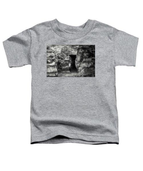 The Walls Of Tulum B/w Toddler T-Shirt