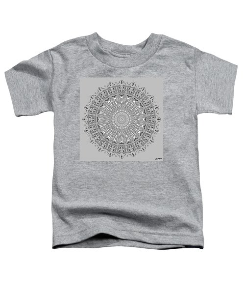 Toddler T-Shirt featuring the digital art The White Mandala No. 4 by Joy McKenzie