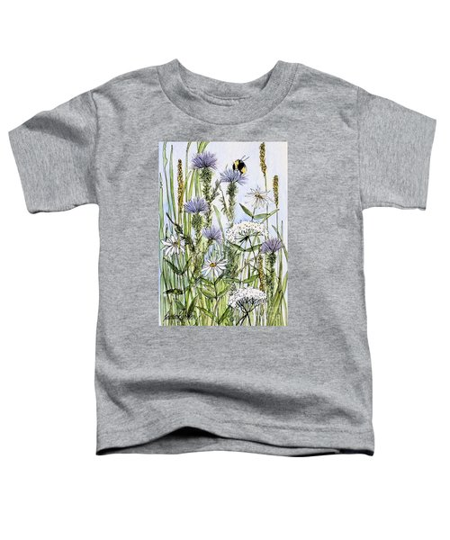 Thistles Daisies And Wildflowers Toddler T-Shirt