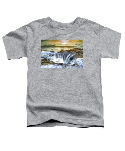 Thor's Well - Oregon Coast Toddler T-Shirt