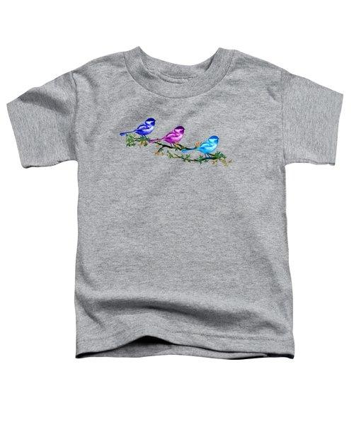 Three Chickadees Toddler T-Shirt