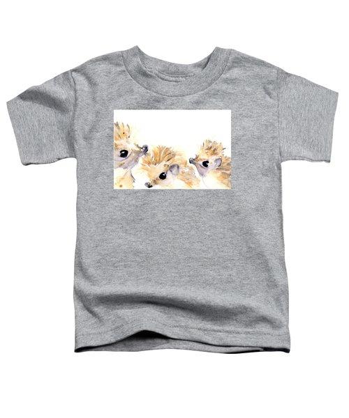 Three Hedgehogs Toddler T-Shirt