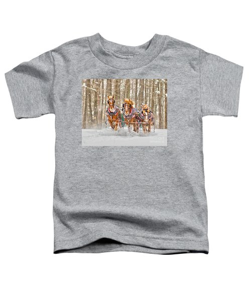 Three Horses Running Toddler T-Shirt