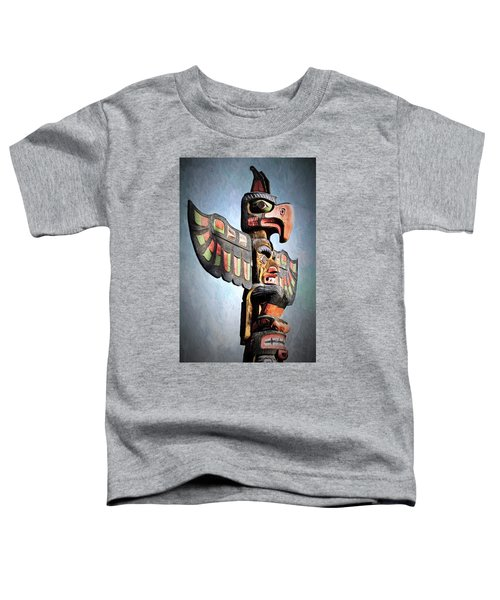 Thunderbird Totem Pole - Thunderbird Park, Victoria, British Columbia Toddler T-Shirt