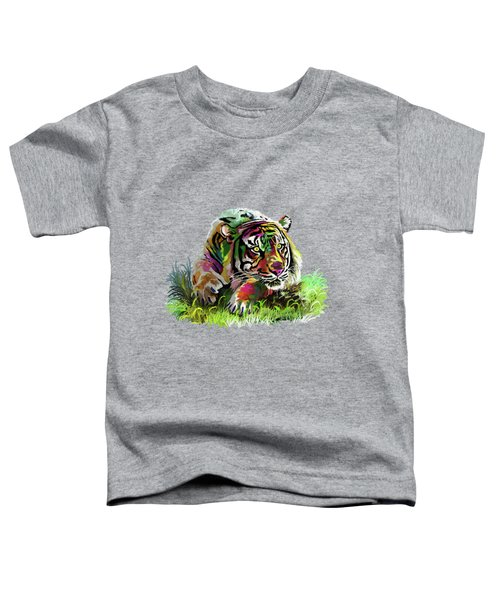Colorful Tiger Toddler T-Shirt by Anthony Mwangi