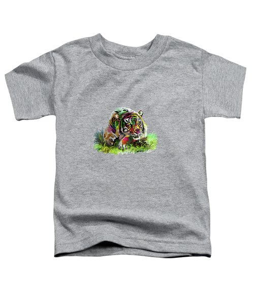 Colorful Tiger Toddler T-Shirt
