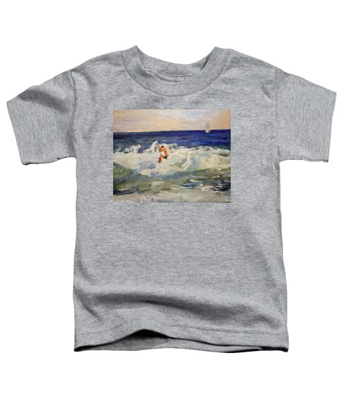 Tightrope Walking The Waves Toddler T-Shirt