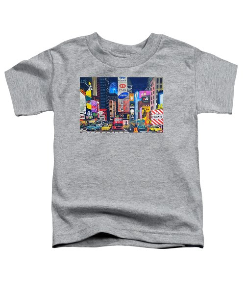 Times Square Toddler T-Shirt by Autumn Leaves Art