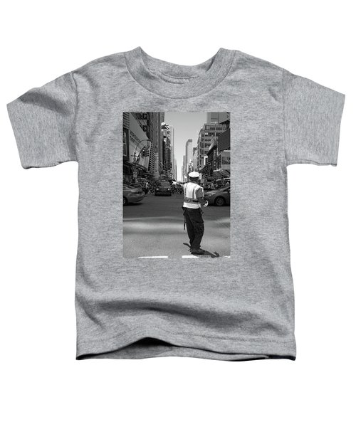 Times Square, New York City  -27854-bw Toddler T-Shirt