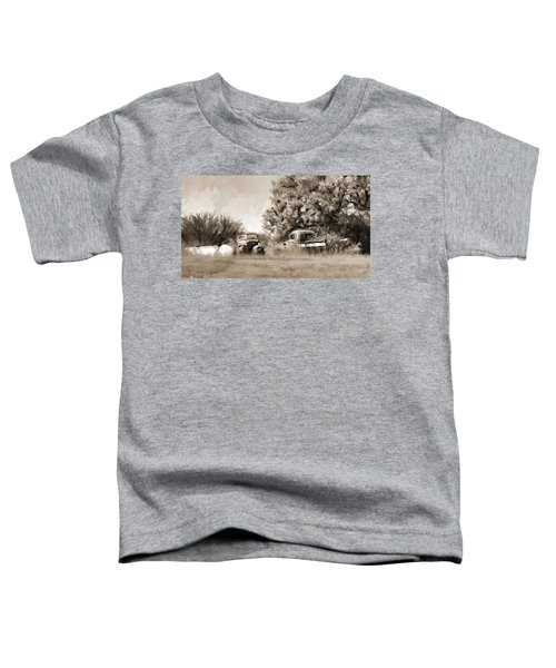 Toddler T-Shirt featuring the painting Timeworn by Susan Kinney