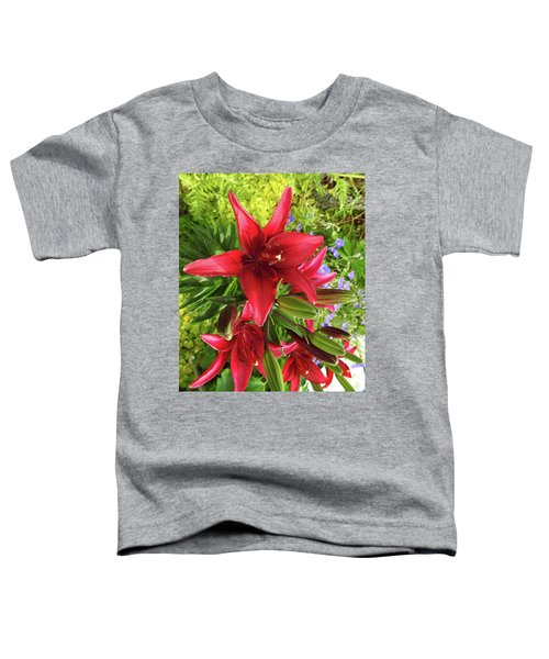Tiny Ghost Asiatic Lilly Toddler T-Shirt