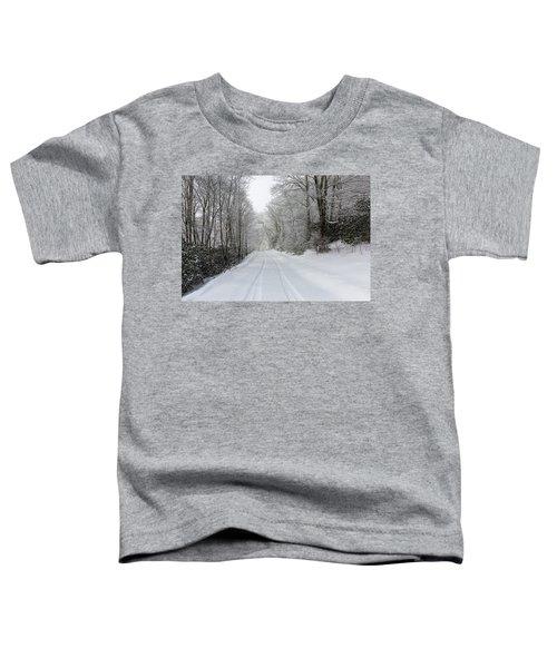 Tire Tracks In Fresh Snow Toddler T-Shirt