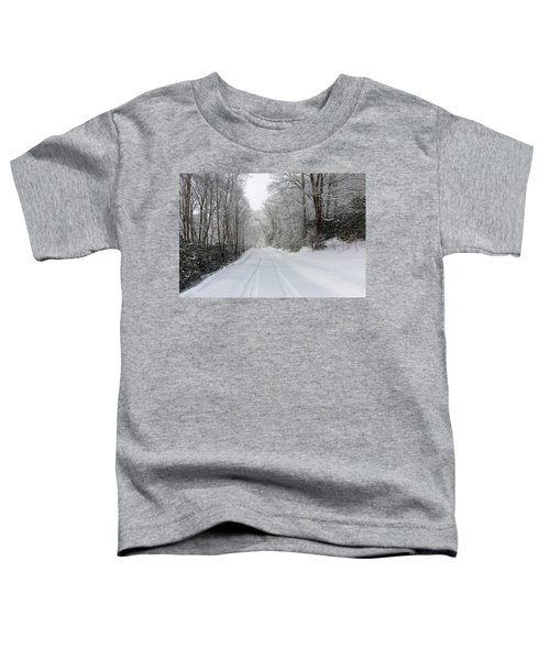 Tire Tracks In Fresh Snow Toddler T-Shirt