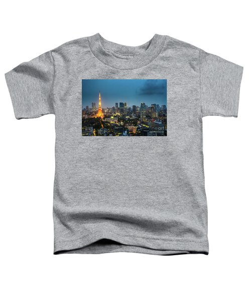 Tokyo Tower And Skyline Toddler T-Shirt