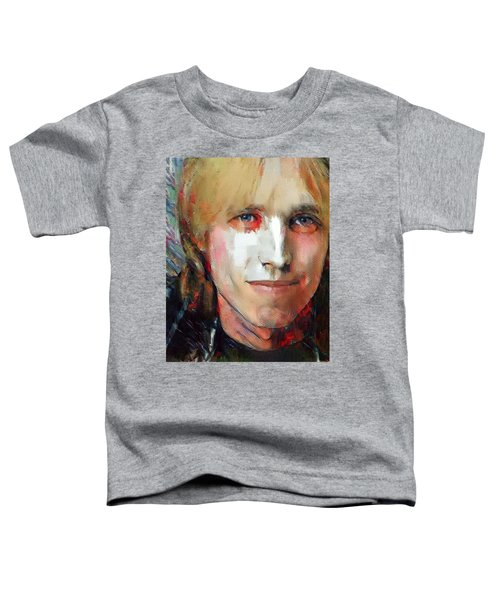 Tom Petty Tribute Portrait 3 Toddler T-Shirt