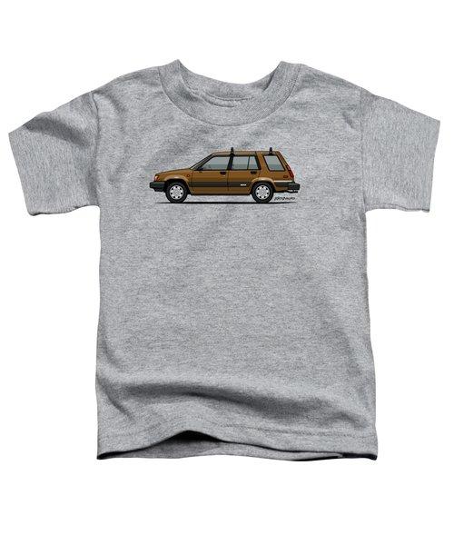Toyota Tercel Sr5 4wd Wagon Al25 Bronze Toddler T-Shirt