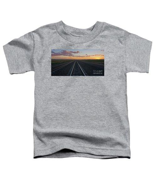 Tracks Into Sunset Toddler T-Shirt