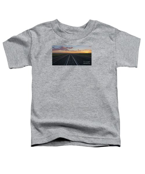 Tracks Into Sunset Toddler T-Shirt