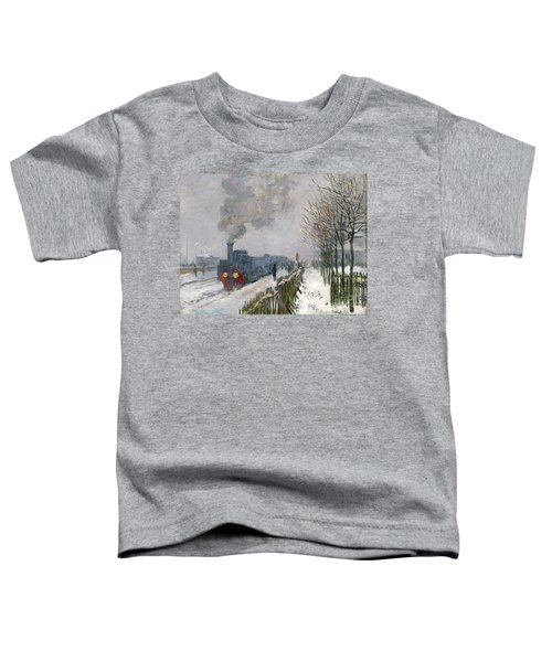 Train In The Snow Or The Locomotive Toddler T-Shirt