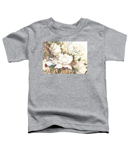 Tranquility Study In White Toddler T-Shirt