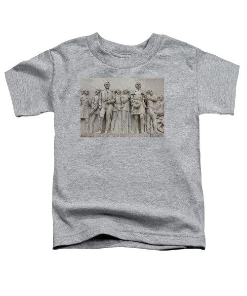 Travis And Crockett On Alamo Monument Toddler T-Shirt
