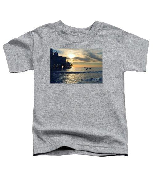 Seagull Pier Sunrise Seascape C1 Toddler T-Shirt