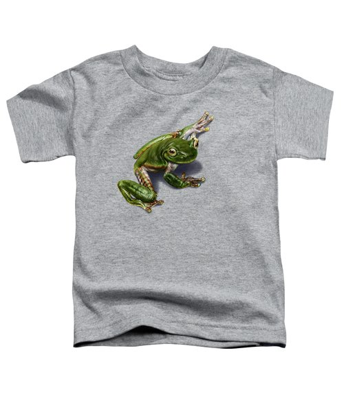 Tree Frog  Toddler T-Shirt by Owen Bell
