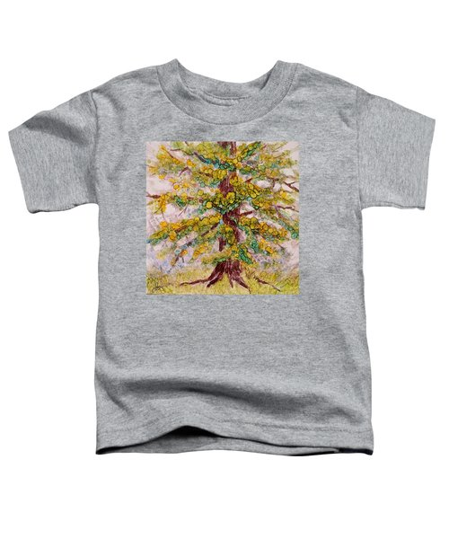 Toddler T-Shirt featuring the painting Tree Of Life by Joanne Smoley