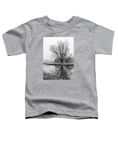 Tree Reflection In The Fox River On A Foggy Day Toddler T-Shirt