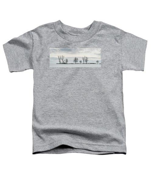 Treeline In Snow, England Toddler T-Shirt