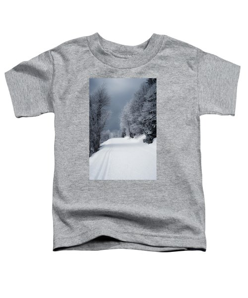 Trees Hills And Snow Toddler T-Shirt